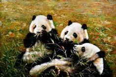 Resultado de imagen para cuadros modernos de tigresde osos pandas