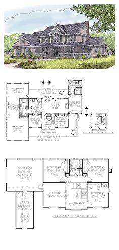1000 images about farmhouse plans on pinterest cool for Cool house plans farmhouse