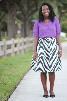 What I Wore: Zebra Midi Skirt   Kreyola's Journeys - Sisterlocks, Fashion, & Travels