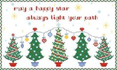 Happy Star - Christmas cross stitch pattern designed by Cathy Bussi. Category: Tree.