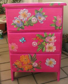 Decoupage furniture | Flickr - Photo Sharing!