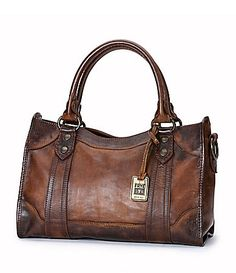 "Frye ""Melissa"" Satchel purse at Dillards. Still in love with the look of this leather."