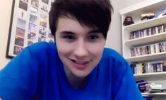 Dan Howell //Phil Lester - ↳Dan Howell in blue <<< how much you wanna bet that's phils sweater<<152838163738293984929 dollars
