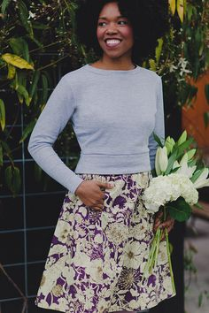 With its cropped style and flattering, waist-defining shape, Astoria is the perfect pullover for maintaining a classic look or making a statement. Dress Patterns, Sewing Patterns, Fashion Patterns, Shirt Patterns, Clothing Patterns, Women's Clothing, Couture, Colette Patterns, Top Pattern