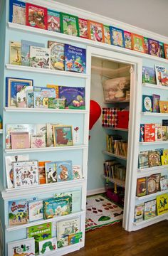 So want to do this for my grandbaby. Children's Book Wall & Reading Nook, Bookshelves Article by Ellen Gibson