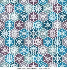 Seamless snowflakes background geometric pattern. winter theme.