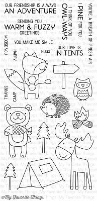 My Favorite Things Warm & Fuzzy Friends Clear Stamps (CS-113)