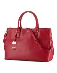 love my new Ralph Lauren Newbury red leather satchel