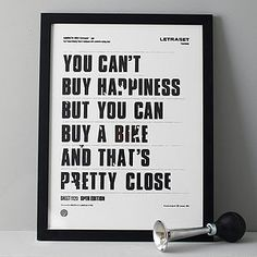 'You Can't Buy Happiness' Screen Print - last minute father's day gifts