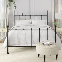 Bed Frame Hooks For Headboard And Footboard Platform Bed Frame, Upholstered Platform Bed, Steel Bed Frame, Black Metal Bed Frame, Headboard And Footboard, Iron Headboard, Brass Headboard, Adjustable Beds, Panel Bed