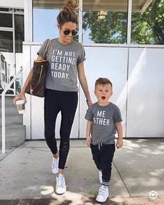 Family Tops Clothing Mother Parent-Child Daughter Love T-Shirt Matching Outfits