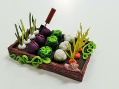 Vegetable Patch: Rows of Miniature Veggies for a Fairy Garden