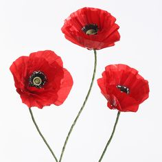 Tutorial: Paper Poppy For My Craft Room
