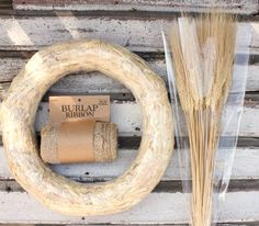Hometalk :: How to Make a Wheat Wreath