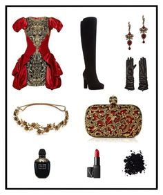 """""""Decadence"""" by our-love-is-radness ❤ liked on Polyvore featuring Dune, Alexander McQueen, Soia & Kyo, Jennifer Behr and NARS Cosmetics"""