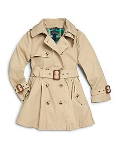 Ralph Lauren Toddler's & Little Girl's Trench Coat. Need to get this for D