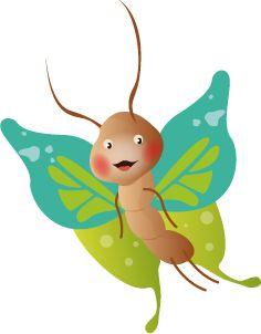 Illustrateur jeunesse - Illustration papillon de stéphanie Bertault