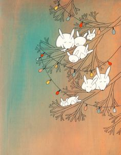 """""""solstice lights"""" original painting by Kristiana Parn from Pink Olive"""