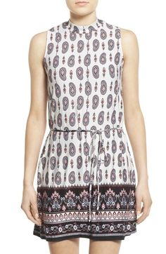Everly Print Mock Neck Shift Dress available at #Nordstrom