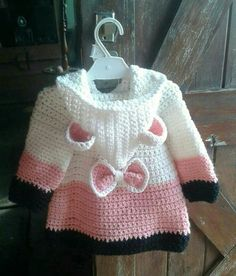 Discover thousands of images about Cathy Crews This Pin was discovered by Vir Crochet Patterns For Kids Wall Best 12 Easy Crochet Coat Video Tutorial and Free Pattern Pull Crochet, Crochet Coat, Crochet Cardigan Pattern, Baby Girl Crochet, Crochet Baby Clothes, Crochet For Kids, Easy Crochet, Baby Knitting Patterns, Baby Patterns