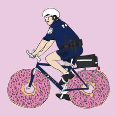 Funny Superhero Bikes - Cops
