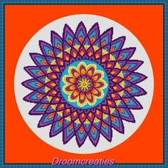 Looking for your next project? You're going to love Crossstitch pattern mandala Dahlia by designer Droomcreaties.