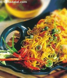 This chinese dish has subtle flavours that are not native to china but have influences of singapore style cooking which is a melting pot of many cooking styles, cultures and flavours. These translucent, pretty looking rice noodles will just melt in your mouth. Flavoured with asian flavourings like cumin and coriander, these noodles are sure to satisfy your taste buds.