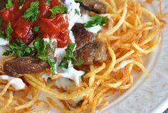 ÇÖKERTME KEBABI http://www.lezzetliyemeklerperisi.com/ozel-tarifler/cokertme-kebabi-tarifi.html