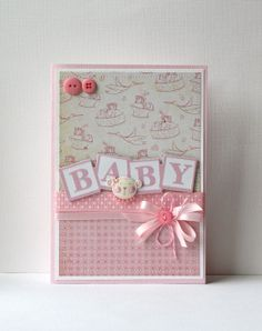 Baby Girl Handmade Card by SusanTracie on Etsy, $6.50