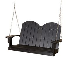 Classic Savannah 4ft Poly Lumber Porch Swing by Little Cottage Company