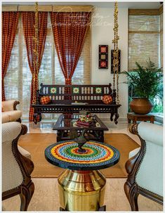Of old things and New (Home Tour) – the east coast desi: Of old things and New … – Indian Living Rooms Indian Room Decor, Ethnic Home Decor, Indian Decoration, Architectural Digest, Estilo India, Bungalow, Mustard Walls, Indian Home Interior, Indian Living Rooms