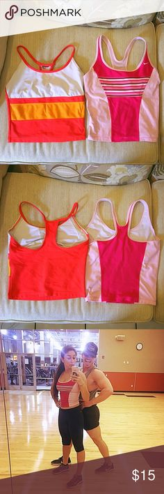 Nike Crop Top Bundle Two super cute Nike crop tops, size small, with built-in bras! Love these two but I honestly have so much work out clothes I don't wear these often. Both have been used but are in good condition :) no flaws :) I did take the tags out but other than that, they are perfect. I'm open to offers and I ship next day! :) Nike Tops Crop Tops
