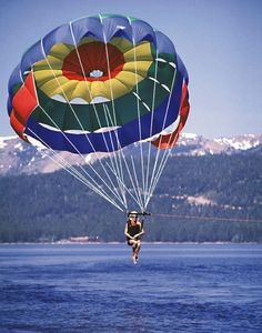 Parasailing - yes I've done it... but more impressive my Granny did it!