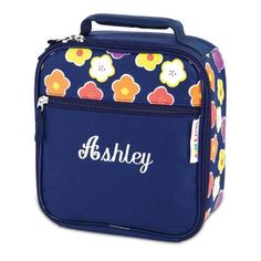 Navy Floral Lunch Bag $26.99