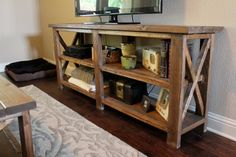 Rustic Entertainment Center by JohnAllenFurniture on Etsy, $500.00