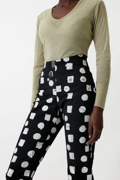 Vitta Trouser in B&W Code