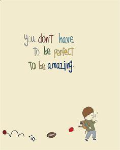 Inspirational Art Print, nursery, childrens room, boy art, baby, illustration, cute, kids art, playroom art, Amazing Is You