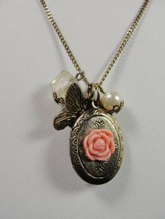1990s MultiPendant Necklace Gold Rose by MileHiVintageandMore, $19.99