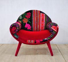 Smiley patchwork armchair - summer