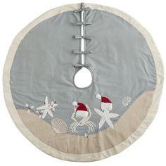 Starfish Santa Hat Tree Skirt