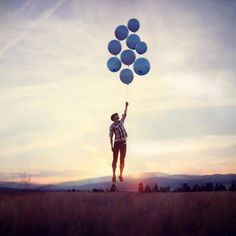 Magic blue balloons Let Me Up, Joel Robinson