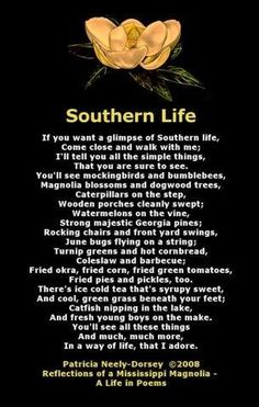 Southern Life - Poem by Patricia Neely-Dorsey - Reflections of a Mississippi Magnolia - A Life in Poems. Poem ARKANSAS , all the way, for this Southern Girl. Southern Ladies, Southern Pride, Southern Sayings, Southern Comfort, Southern Charm, Southern Living, Simply Southern, Southern Women Quotes, Southern Humor