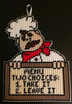 Take It or Leave It Chef - Plastic canvas by sanzosgal