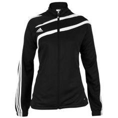 adidas Tiro II Full Zip L/S Training Jacket - Women's - Soccer - Clothing - Navy/Black/White
