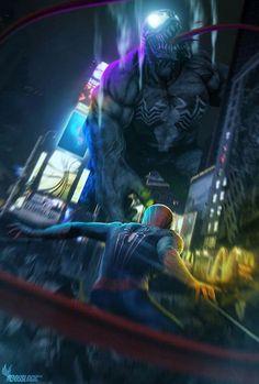 Spider-Man vs. Venom by BossLogic
