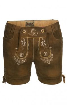 German LEDERHOSENN Elfi Leather Shorts brown