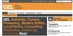 Create a website style guide: The BBC Global Experience Language (GEL) is a great example of a website style guide