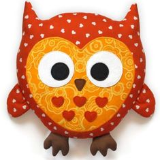 Quilted Stuffed Animal Owl