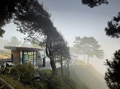 Buck Creek House, Big Sur, California, designed by Anne Fougeron of Fougeron Architecture in San Francisco.