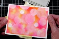 Watercolor Bokeh Tutorial - Splitcoaststampers